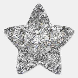Conseguido al fondo de los diamantes de Lotta Pegatina En Forma De Estrella