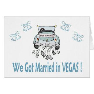 ¡Conseguimos casados en VEGAS! Tarjeta