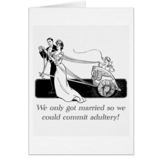 Conseguimos solamente casados… tarjeta de felicitación