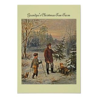 Conseguir el árbol de navidad invitación 12,7 x 17,8 cm