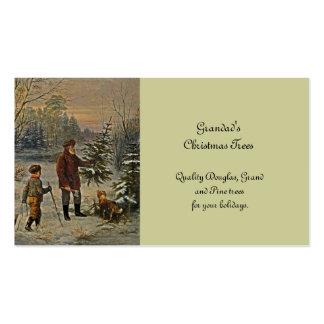 Conseguir el árbol de navidad tarjetas de negocios