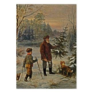 Conseguir el árbol de navidad plantillas de tarjetas de visita