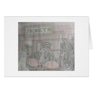 Conseguir los boletos para el tren tarjeta de felicitación