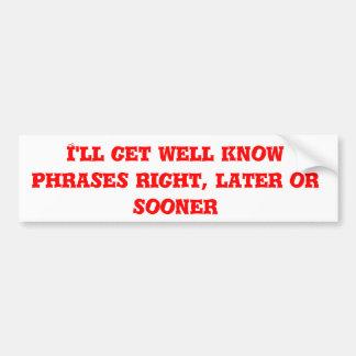 Conseguiré bien sé las frases correctas, más pegatina para coche
