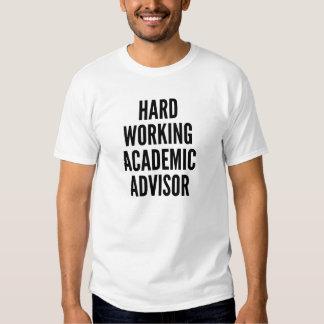 Consejero académico de trabajo duro camisetas