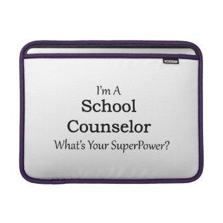 Consejero de la escuela funda para MacBookAir