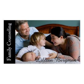 Consejero de la familia tarjetas de visita