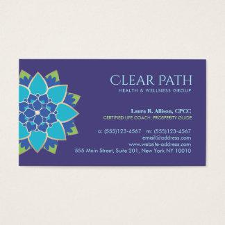 Consejero de la salud de Lotus azul y salud Tarjeta De Negocios