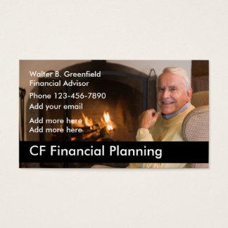 Consejero financiero tarjeta de negocios