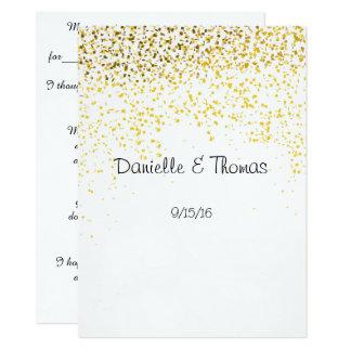 Consejo del boda, elegante, confeti del oro invitación 13,9 x 19,0 cm