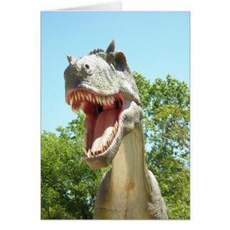 Consejo del dinosaurio del feliz cumpleaños tarjeta