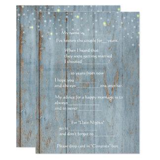 Consejo divertido de la boda, madera, invitación 13,9 x 19,0 cm