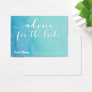 Consejo para el trullo de la novia y la acuarela tarjeta de negocios