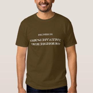 Conservador subterráneo, miembro camiseta