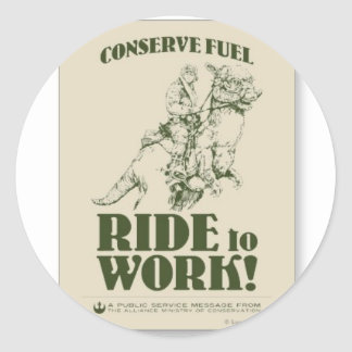 conserve_fuel_ride_a_tauntaun_to_work_postcard-p23 etiquetas redondas