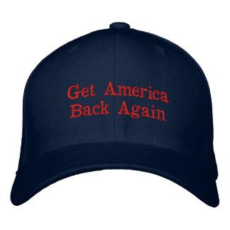 Consiga a América otra vez la gorra de béisbol
