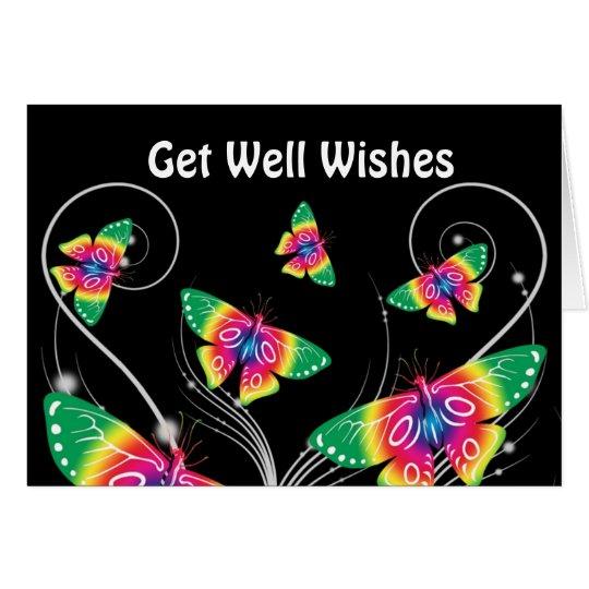 Consiga a mariposas bien de los deseos la tarjeta