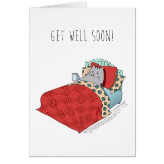 Consiga a sensación bien una mejor gripe fría tarjeta de felicitación