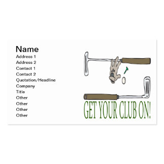 Consiga a su club encendido tarjetas de visita