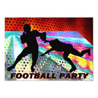 Consiga al fiesta del fútbol del estratega invitación 12,7 x 17,8 cm