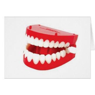 Consiga bien los dientes pronto del rechino tarjeta de felicitación