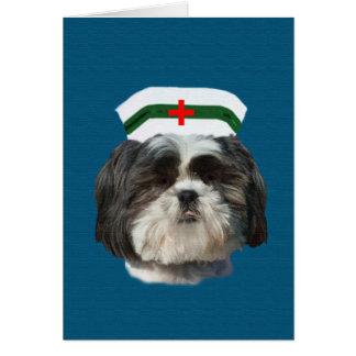 Consiga bien, perro de Shih Tzu Tarjeta De Felicitación