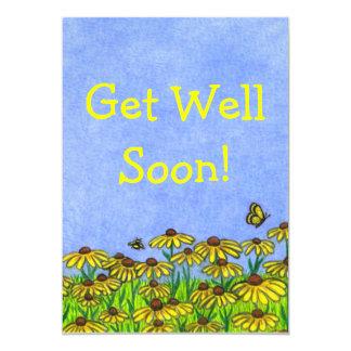 ¡Consiga bien pronto! ¡Card~Personalize ~Greeting! Invitación 12,7 X 17,8 Cm