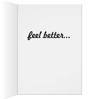 Consiga bien tarjeta de felicitación