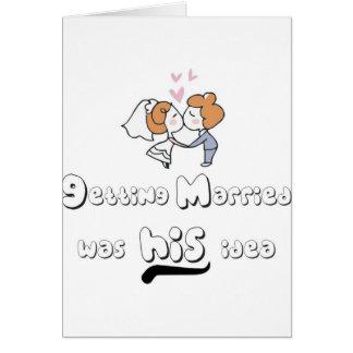 consiga casado tarjeta de felicitación