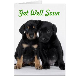 Consiga el estilo del perrito del pozo pronto - tarjeta de felicitación