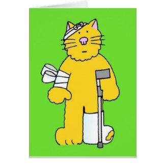 Consiga el gato bien del jengibre con los tarjeta de felicitación