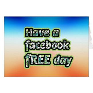 Consiga el ~ inspirado tienen un día del facebook tarjeta de felicitación