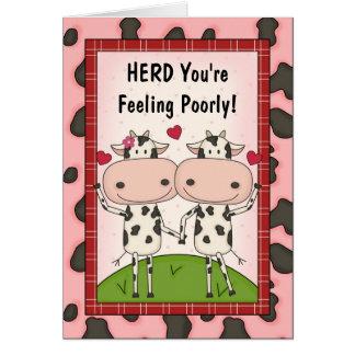Consiga el pozo - vacas felicitación