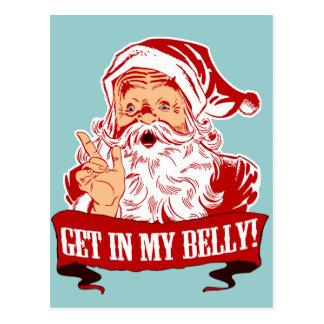 Consiga en mi navidad divertido del Belly Postal