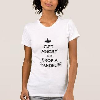 consiga enojado y caiga una lámpara camiseta