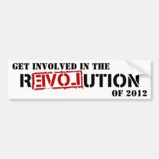 CONSIGA IMPLICADO EN LA REVOLUCIÓN DE 2012 ETIQUETA DE PARACHOQUE