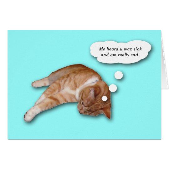 Consiga la tarjeta bien del gato