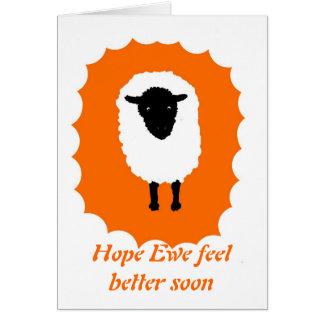 Consiga la tarjeta bien, sensación de la oveja de