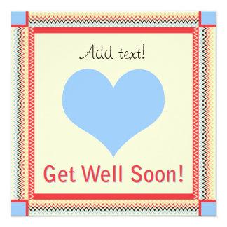 Consiga la tarjeta de felicitación del corazón del invitación 13,3 cm x 13,3cm