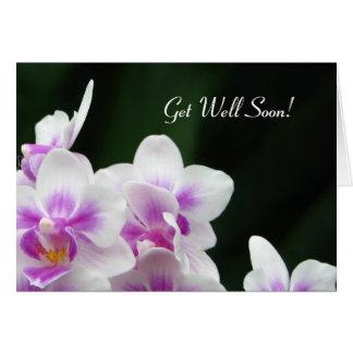 Consiga la tarjeta de felicitación pronto floral