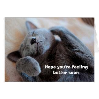 Consiga la tarjeta pronto linda bien del gato