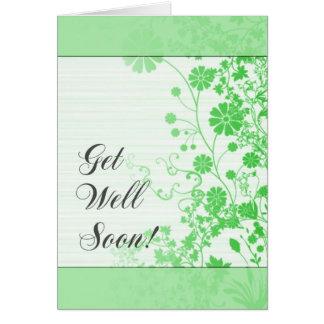Consiga la tarjeta (verde) del pozo pronto