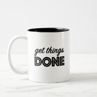 ¡Consiga las cosas hechas! Taza de motivación