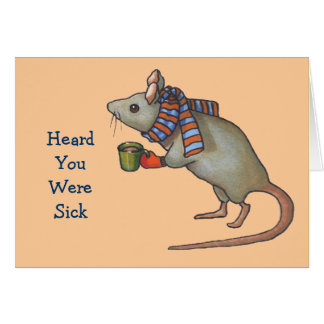 Consiga mejor pronto: Ratón con la bufanda: Arte a Tarjeta