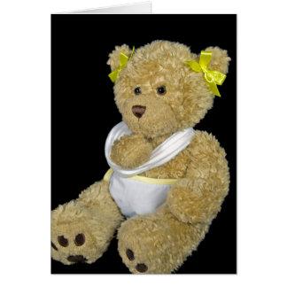 Consiga pronto el oso de peluche bien tarjeta de felicitación