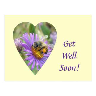 Consiga pronto la abeja bien en corazón de los ast postal