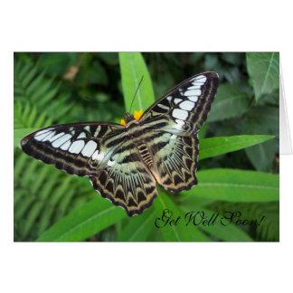 Consiga pronto la mariposa bien tarjeta pequeña
