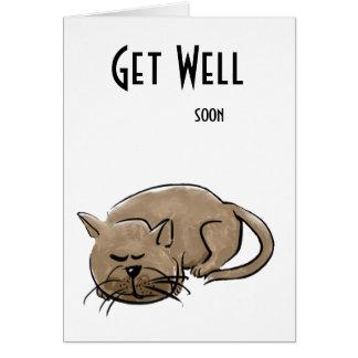Consiga pronto la tarjeta de felicitación bien con