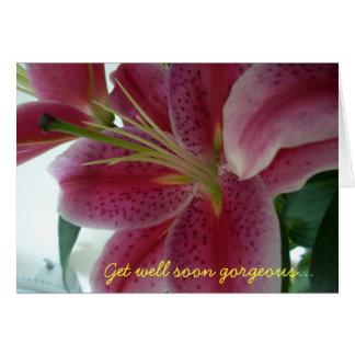 Consiga pronto magnífico bien… tarjeta de felicitación