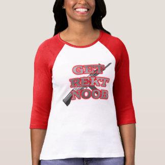 Consiga Rekt Noob Camiseta